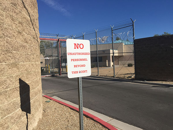 Las Vegas Detention Center Jail Entrance